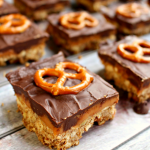 Chocolate and Caramel Pretzel Bars