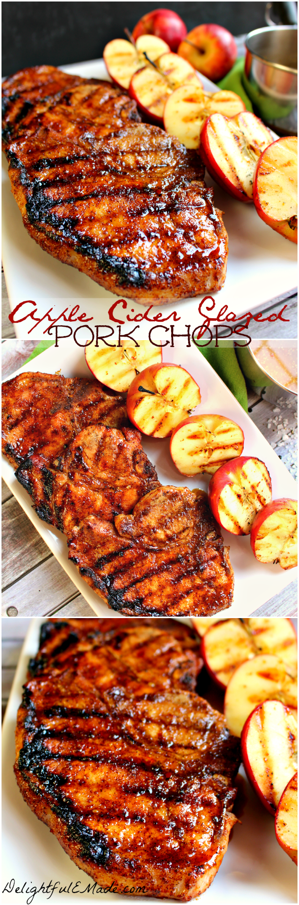 These Apple Cider Glazed Pork Chops are AMAZING! Perfectly seasoned ...