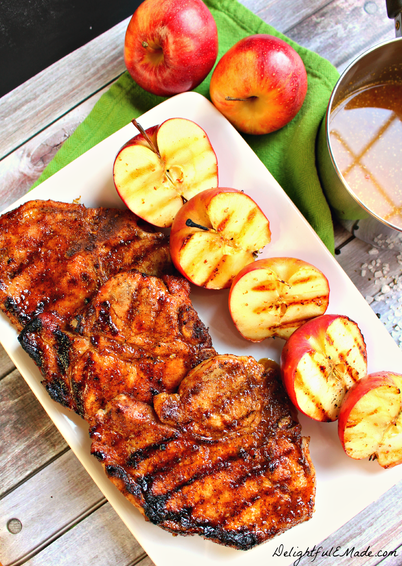 Pork chop fruit glaze recipes