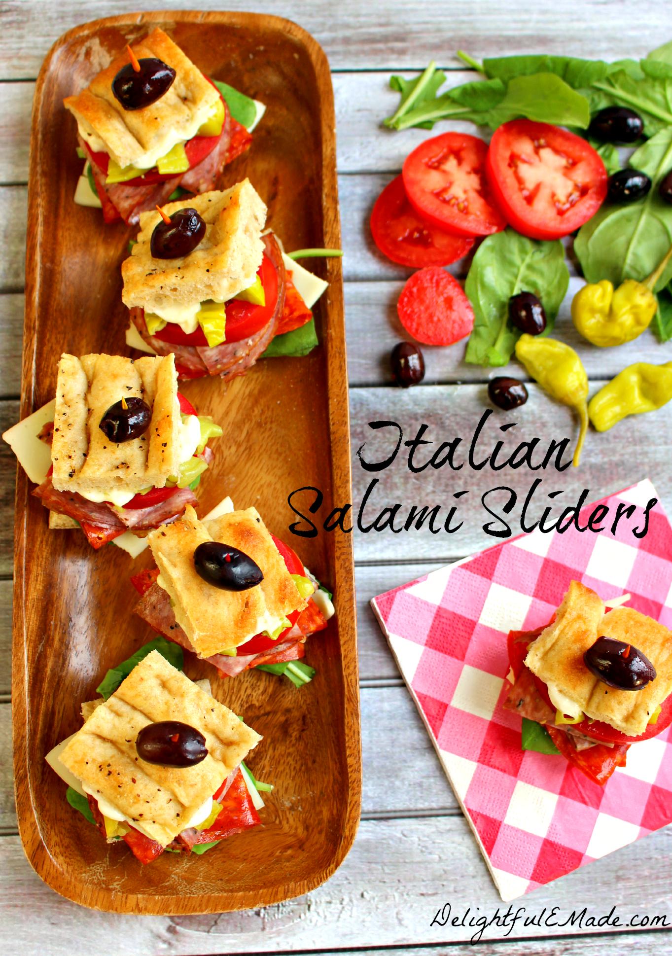 Italian salami sliders delightful e made for Made com italia