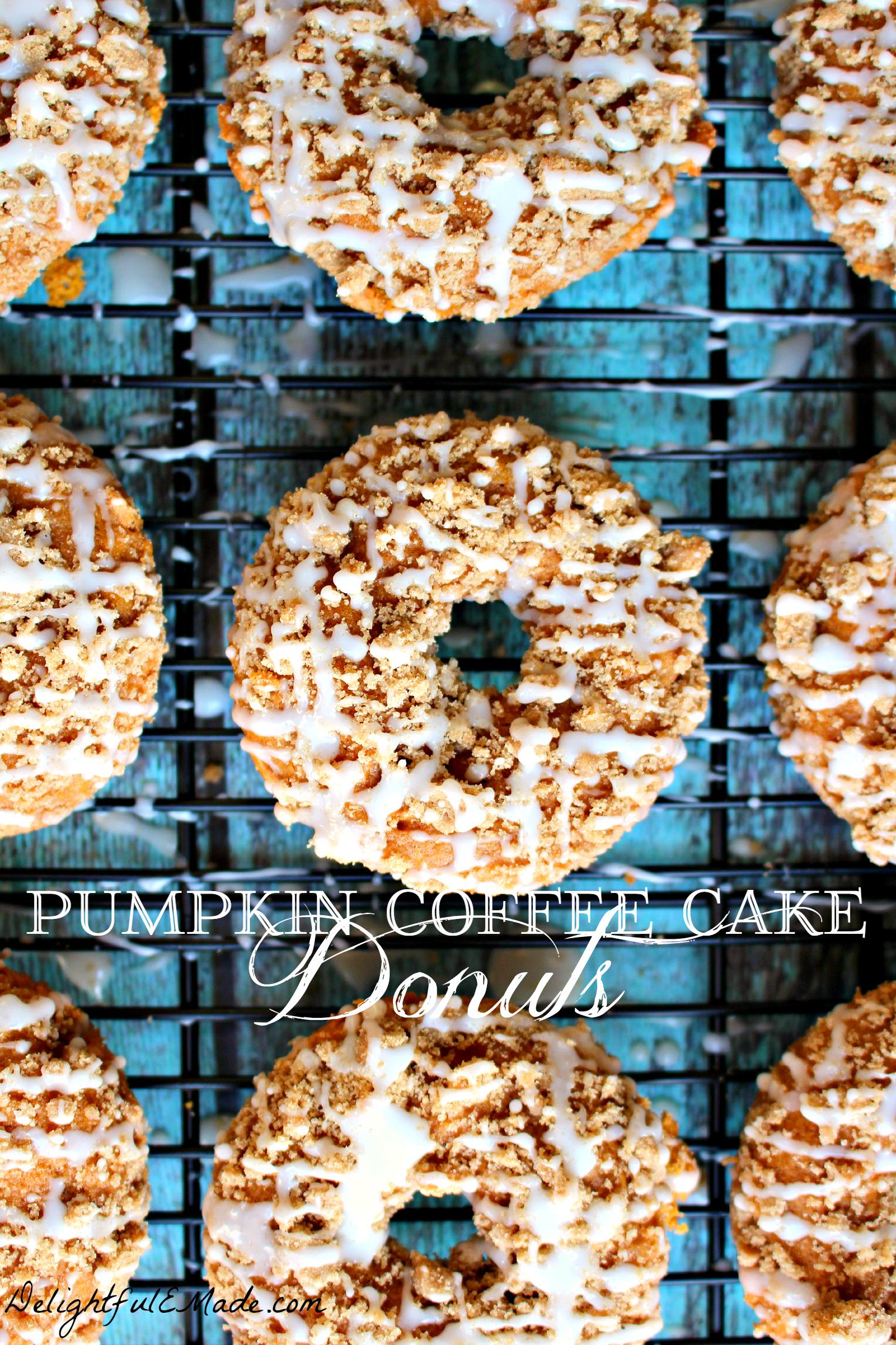 Pumpkin Coffee Cake Donuts by Delightful E Made.com
