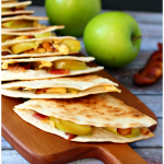 Smokey Apple and Bacon Quesadillas by DelightfulEMade.com
