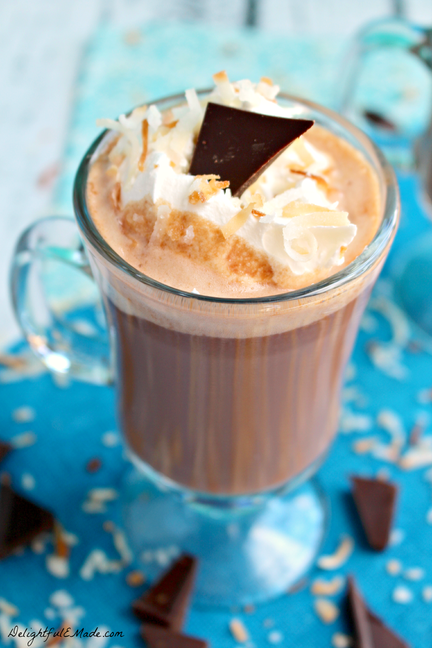... cup of hot chocolate with a hint of coconut. Best Hot Chocolate, EVER