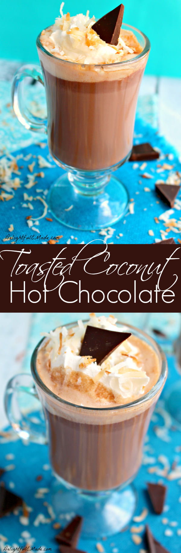 If you like coconut, you'll love this classic hot chocolate! Rich, chocolaty and completely delicious!