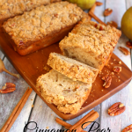 Cinnamon Pear Quick Bread