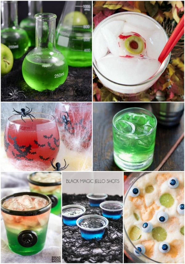 Celebrate Halloween with these Spooktacular Halloween Party Foods! I've gathers some of the very best Halloween party appetizers, snacks, drinks, and desserts to make your party the best in town!