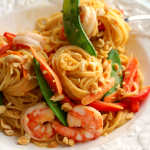 Thai Peanut Pasta with Shrimp