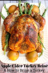 Apple Cider Turkey Brine and How to Brine A Turkey