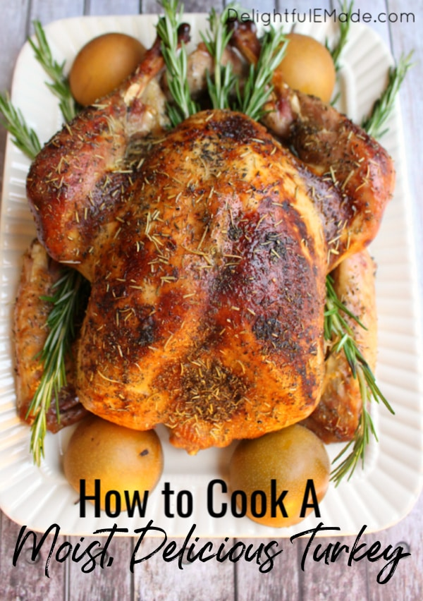 I'll show you how to cook a moist turkey in just three easy steps. I'll show you how to brine a turkey, which is the secret to getting a juicy and flavorful bird every time!