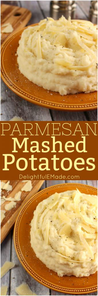 These Parmesan Mashed Potatoes include sour cream, cream cheese and Parmesan cheese making them the ultimate mashed potato recipe!
