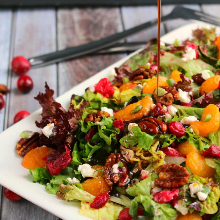 Cranberry Citrus Salad With Goat Cheese & Pecans