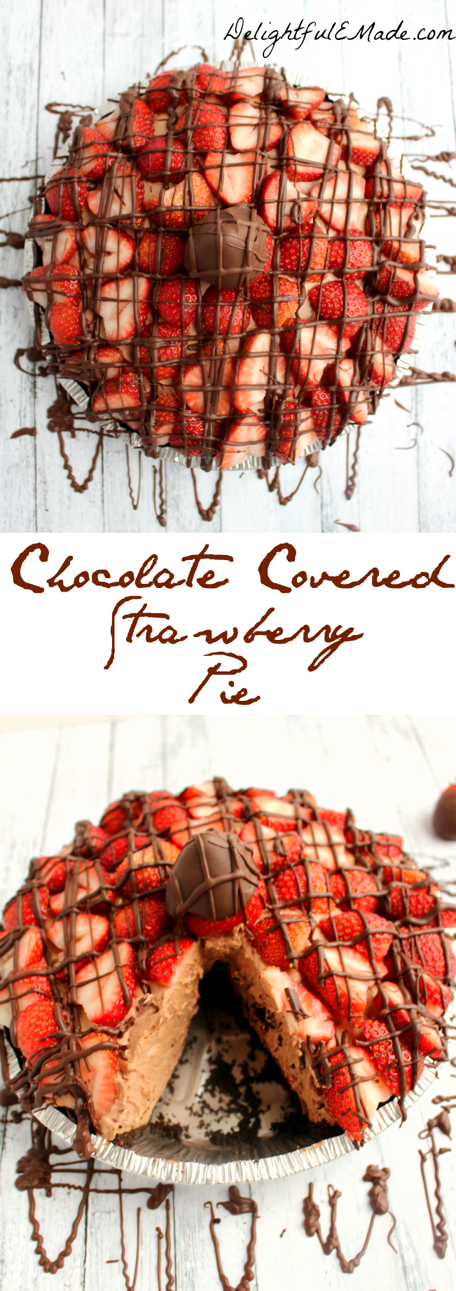 Covered Strawberry Pie has a delicious chocolate & strawberry ...