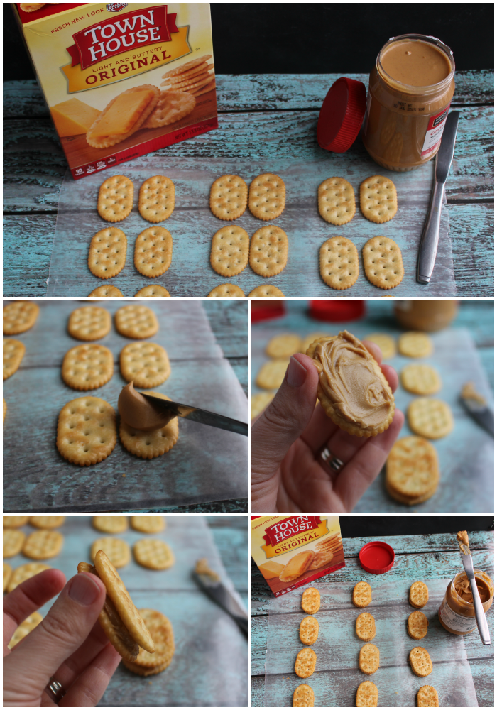 These delicious Penguin Cookies are the perfect treat for your next holiday party or get-together. Made with Town House Crackers and few other goodies, these cookies will be loved by everyone in the family!