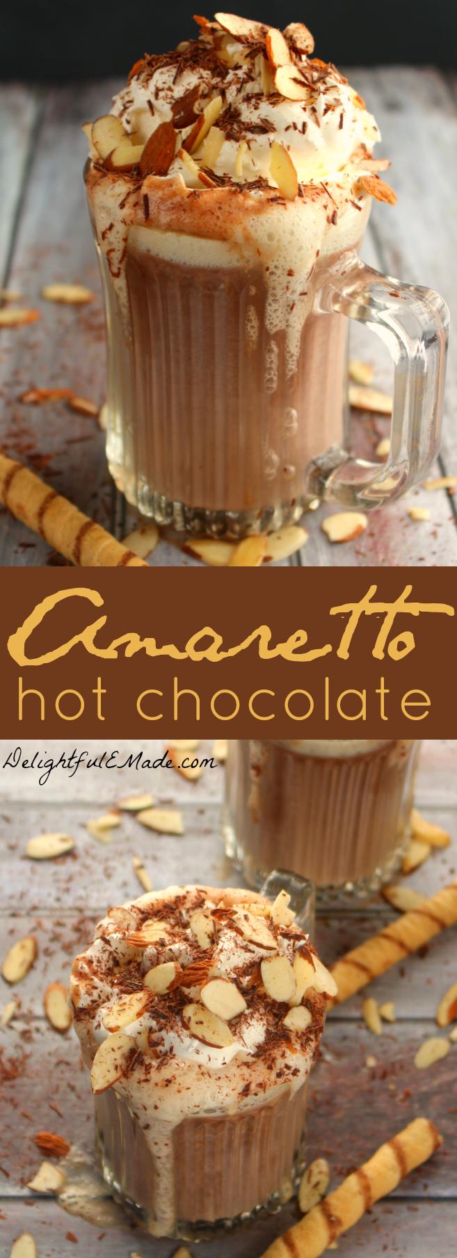 Amaretto Hot Chocolate - Delightful E Made