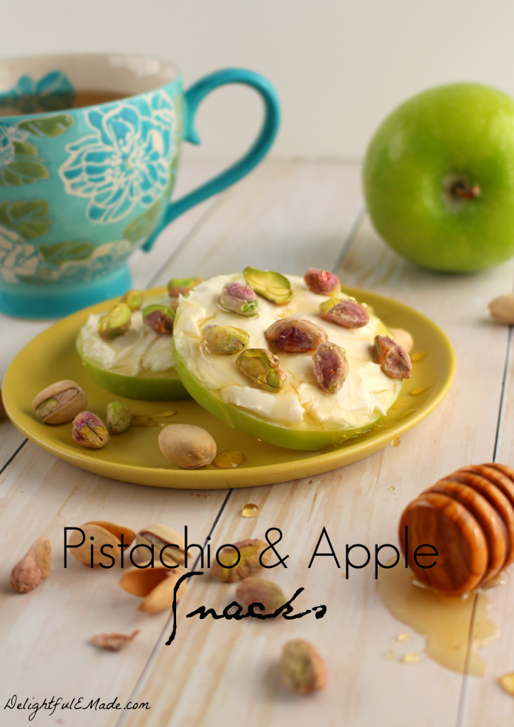 ... Pistachio and Apple Snacks are the perfect solution to your snack