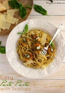 Easy Pasta Pesto with Scallops
