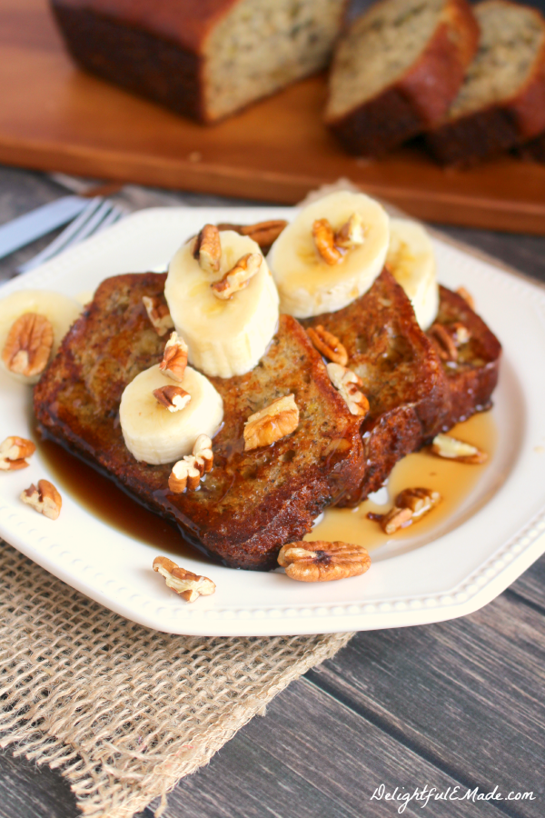 Bannana Bread French Toast, shared by Delightful E Made at the Clever Chicks Blog Hop