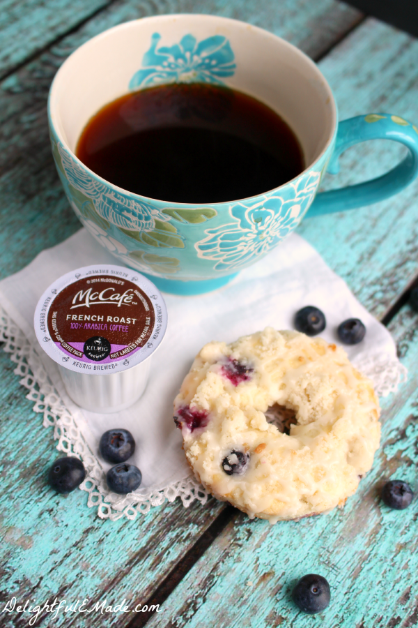 These blueberry muffin donuts are the perfect treat with your morning coffee! Light, moist and bejeweled with fresh blueberries, they're an excellent way to start your day!