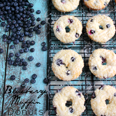 Blueberry Muffin Donuts by Delightful E Made