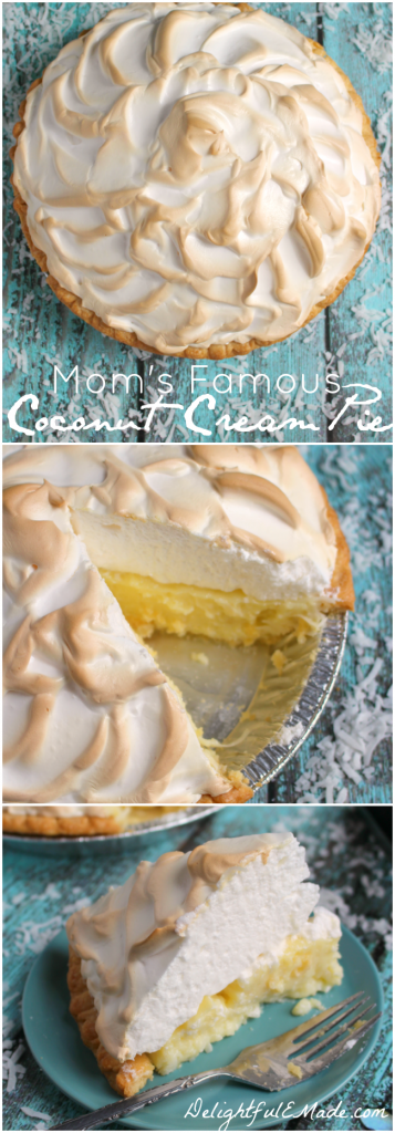 The creampie recipe of your dreams! This classic Coconut Cream Pieis made with a gorgeous meringue and perfectly creamy coconut custard filling. My mom is famous for this pie for good reason - it's completely incredible!