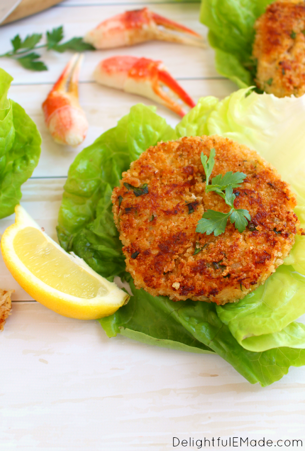 The best crab cakes you'll ever have! Filled with sweet, delicious Alaskan Snow Crab, and seasoned with fresh ingredients, these crab cakes will be a perfect dinner solution any night of the week!