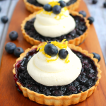 Blueberry Tarts with Lemon Mascarpone Cream