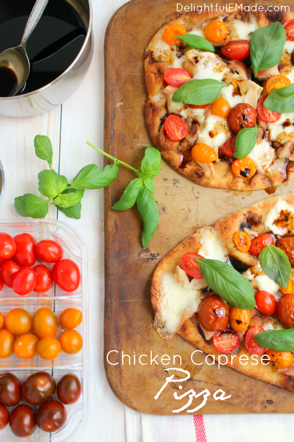 Chicken Caprese Pizza Tastes Of Lizzy T 39 S