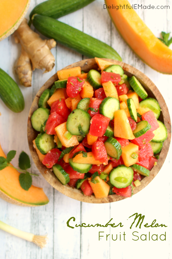 Cucumber Melon Fruit Salad