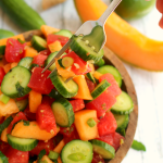 Cucumber Melon Fruit Salad