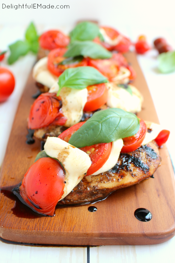 Grilled Caprese Chicken | Healthy Grilled Chicken Breast Recipes Perfect All Year Round | healthy grilled chicken breast recipes