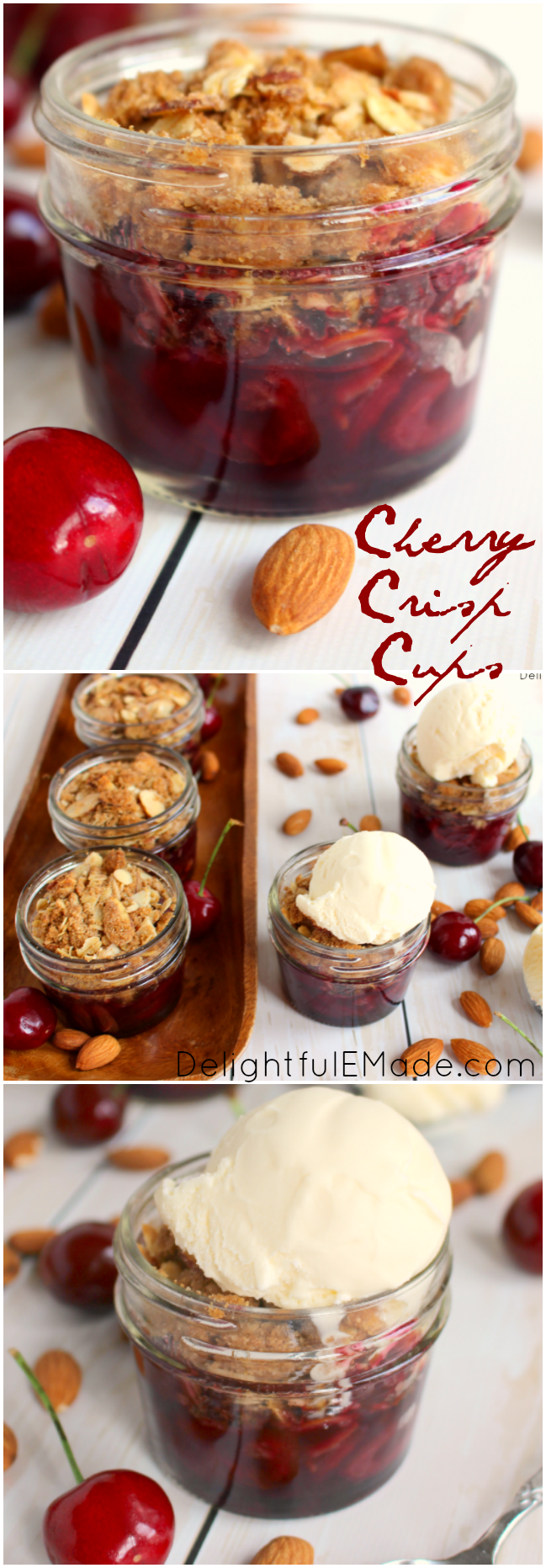 ! Fresh cherries are topped with a delicious almond crisp and baked ...
