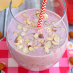 Apple Cherry and Almond Breakfast Smoothie