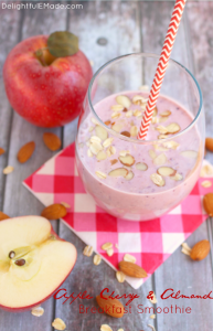 Apple Cherry Almond Breakfast Smoothie