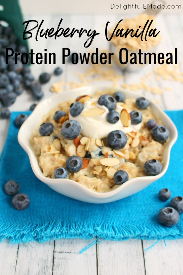 Proats are the perfect way to start your day!  This Blueberry Vanilla Protein Oatmeal recipe is an excellent way to add protein to your breakfast. Creamy, delicious protein powder oatmeal mixed with fresh blueberries will help keep you full well past lunchtime!