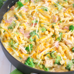Ham Cheese & Broccoli Pasta Skillet