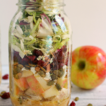 How about a healthy, easy delicious lunch idea? My Honey Crisp Apple & Sweet Kale Salad with Apple Cider Vinaigrette is the perfect lunch solution! Pack ahead of time, and take with you to work, they're the perfect make-head meal!