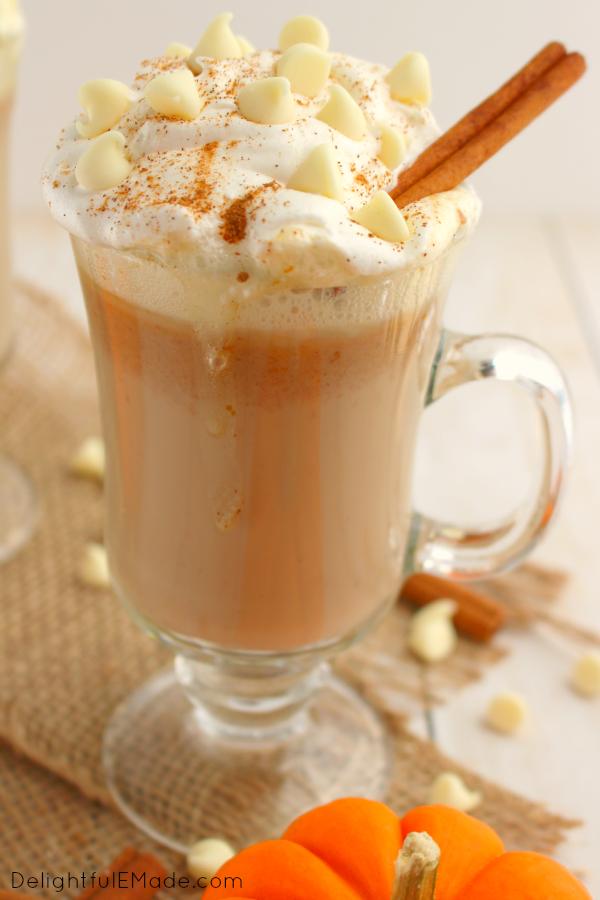 White Chocolate Pumpkin Spice Latte - Delightful E Made