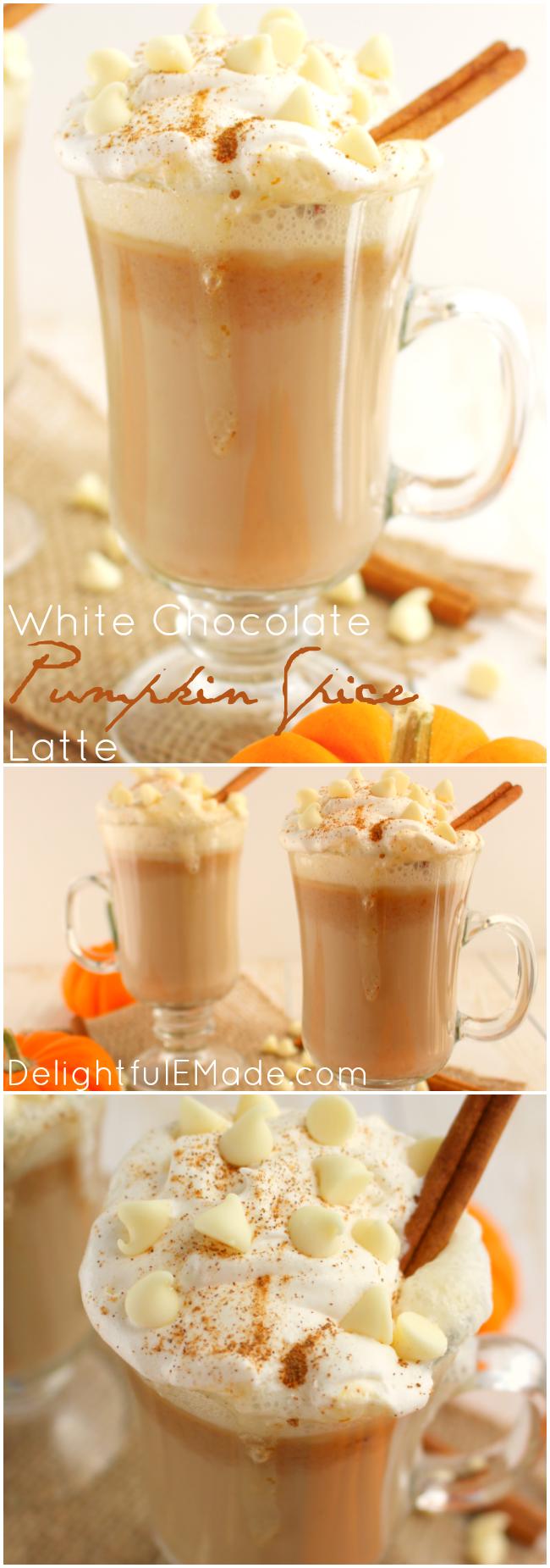 White Chocolate Pumpkin Spice LatteDelightful E Made