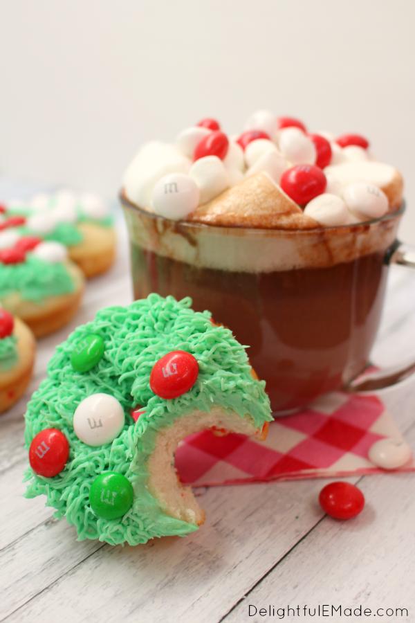 Christmas Tree Donuts - Delightful E Made