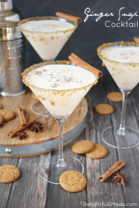 The perfect holiday cocktail! Ginger ale, spiced rum, cream liqueur and a few other goodies make this delicious drink fantastic for celebrating with friends and family. If you like ginger snap cookies, you'll love this!