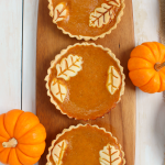 Pumpkin Pie Tarts with Vanilla Bean Whipped Cream