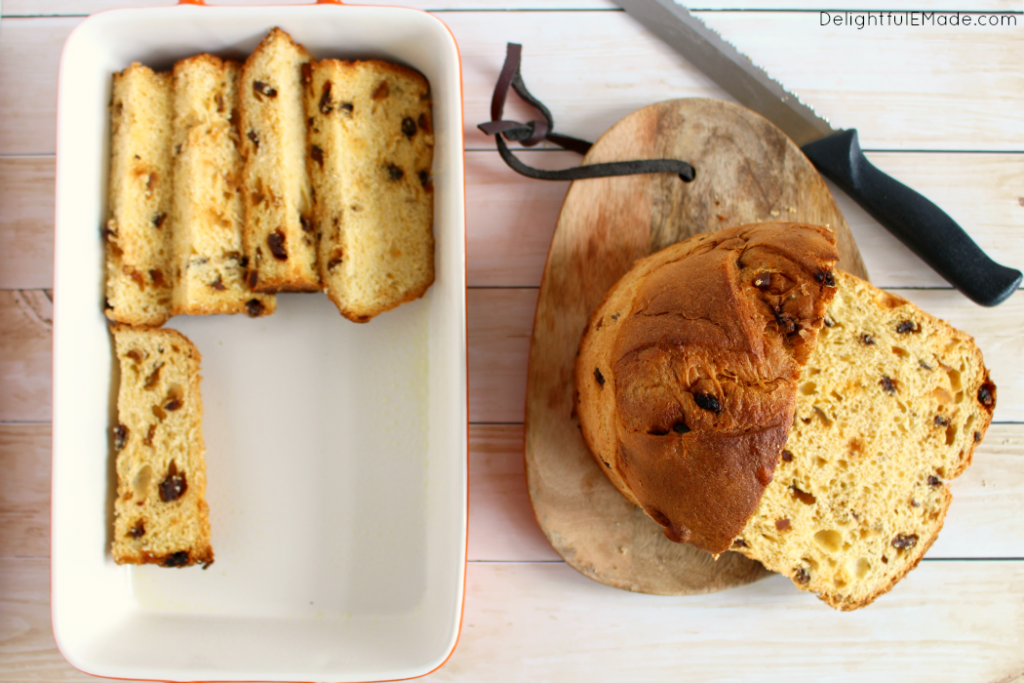 Did you get a Panettone for the holidays? Make my Panettone Baked French Toast - perfect for breakfast or brunch on Christmas morning, and great for when you have guests and want a really fantastic (and EASY!) breakfast that will feed a crowd!