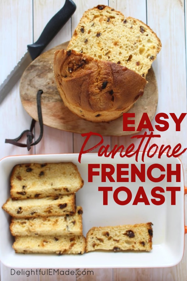Did you get a Panettone for the holidays?  Make my Panettone French Toast Casserole - perfect for breakfast or brunch on Christmas morning, and  great for when you have guests and want a really fantastic, easy breakfast that will feed a crowd!