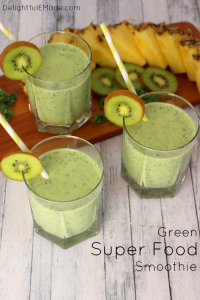 Green Super Food Smoothie by Delightful E Made