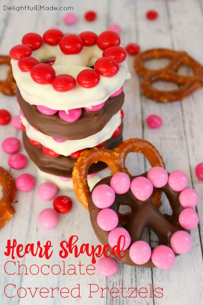 Heart Shaped Chocolate Covered Pretzels Delightful E Made
