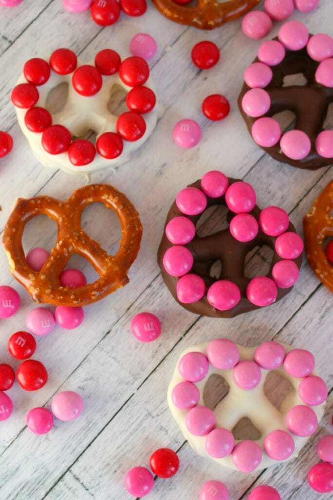 Heart Shaped Chocolate Covered Pretzels - Delightful E Made