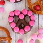 Heart Shaped Chocolate Covered Pretzels