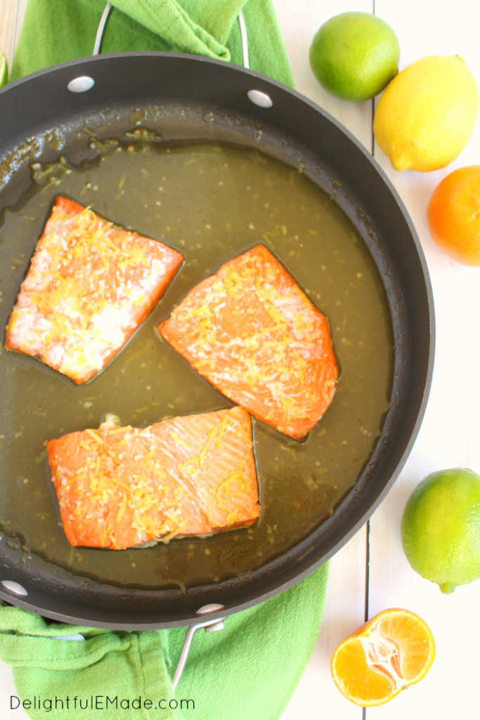 The most flavorful, delicious Salmon you'll ever have! This healthy, easy dinner comes together in minutes and is topped with my fresh, delicious Pineapple Mango Salsa! Perfect any day of the week!
