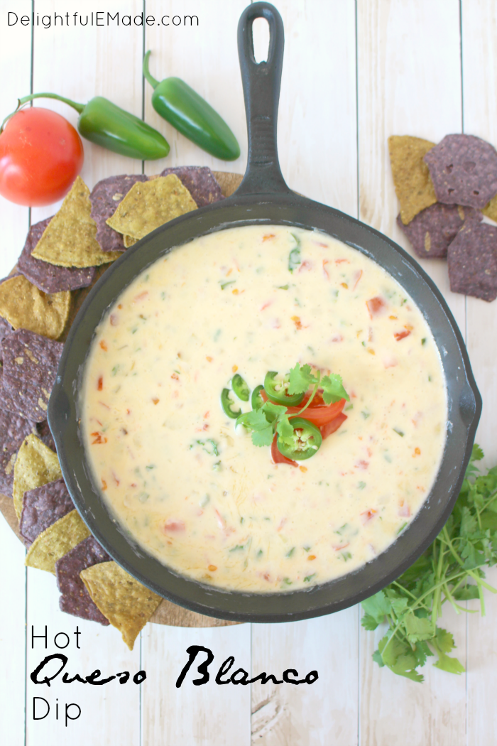 Hot Queso Blanco Dip from Delightful E Made