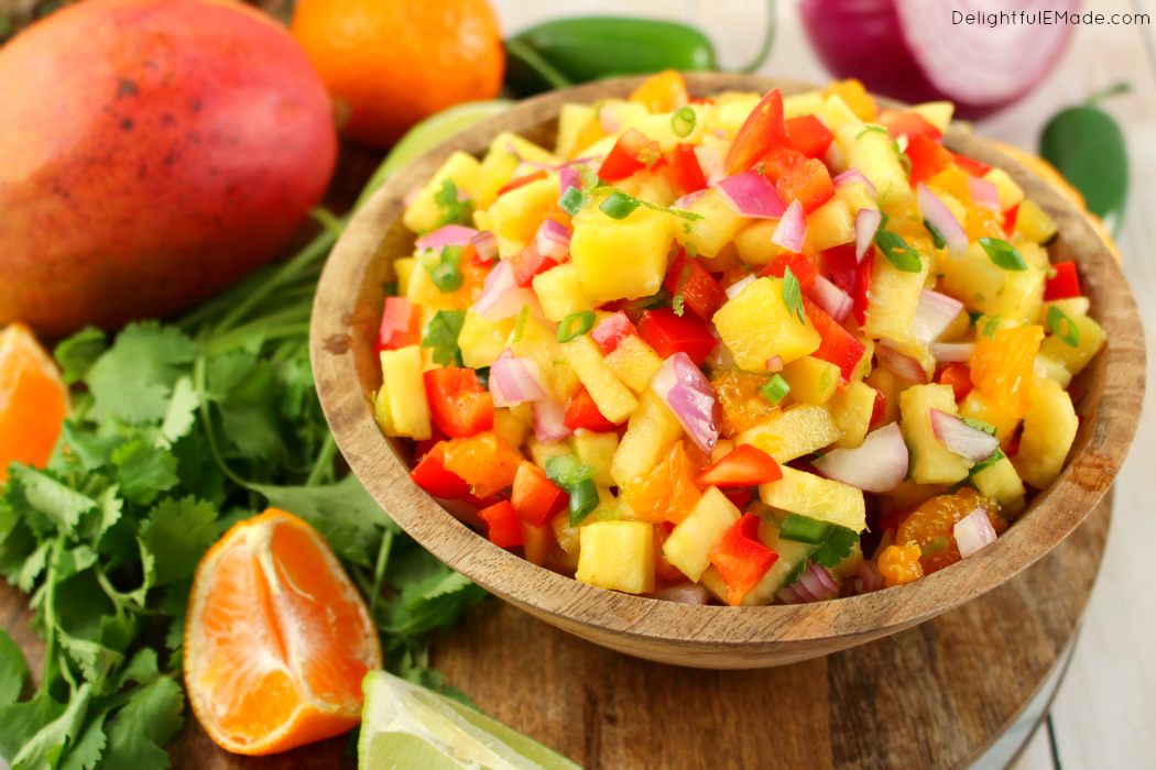 Tropical Pineapple Mango Salsa - Delightful E Made